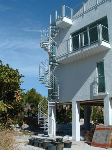 Spiral stairs for Two story spiral staircase